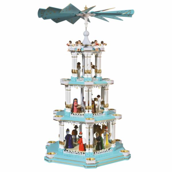 Barocke Weihnachtspyramide Christi Geburt