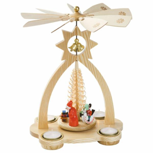 Glockenpyramide für Teelichte, Bescherung