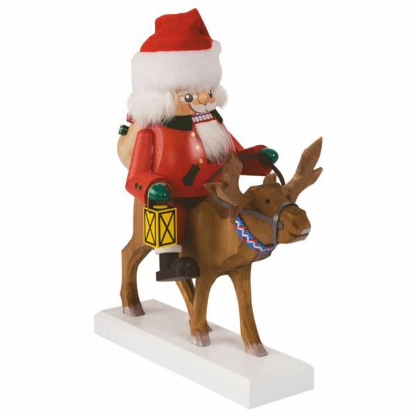 Nussknacker Santa auf Rentier