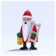 Räuchermann Santa Claus mit Leiter