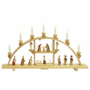 Schwibbogen Christi Geburt natur, elektr. Beleuchtung_002-012-00972