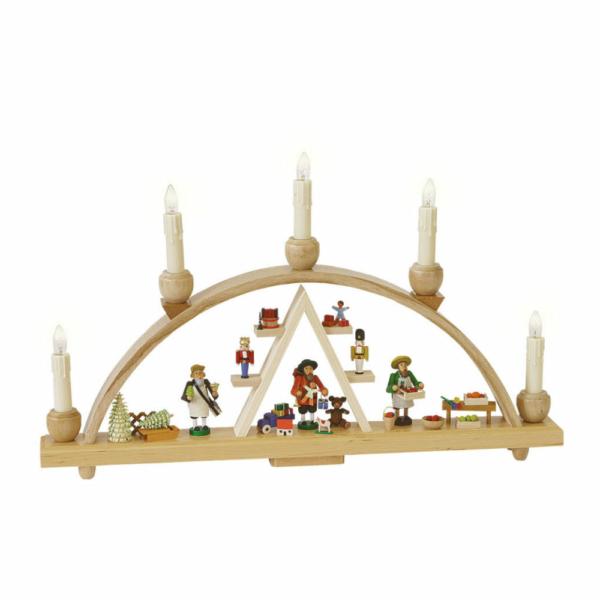 Schwibbogen Weihnachtsmarkt, elektr. Beleuchtung _002-012-00973