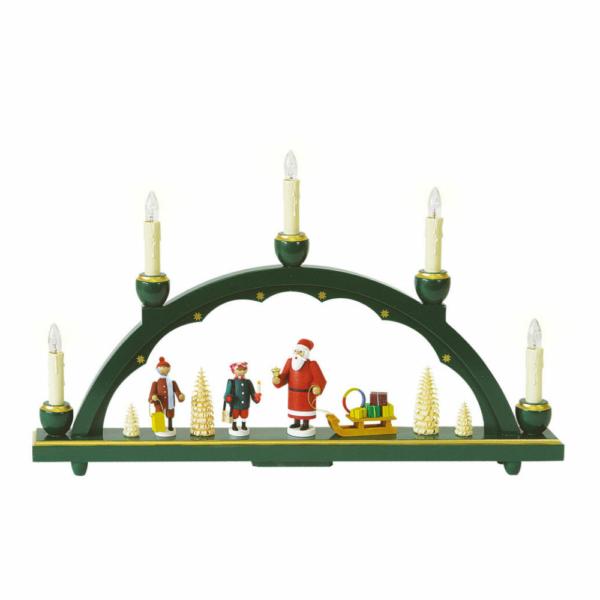 Schwibbogen Weihnachtsmann, elektrische Beleuchtung_002-012-00974