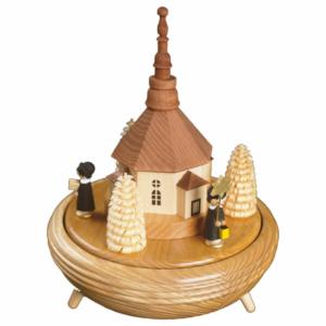 Spieldose Kurrende mit Seiffener Kirche.