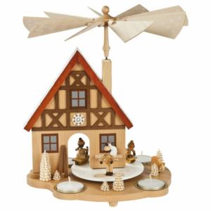 Tischpyramide Haus Winterkinder