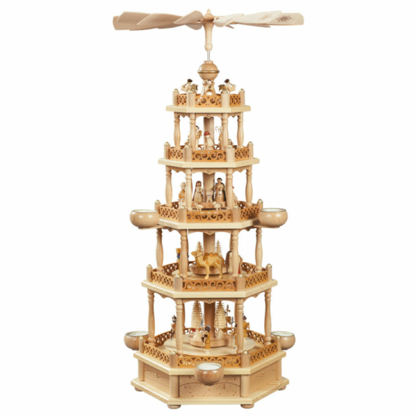 Weihnachtspyramide 4-stöckig Christi Geburt