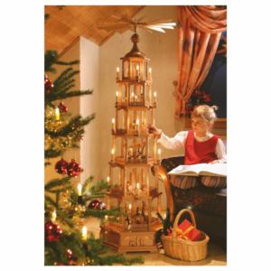 Weihnachtspyramide 6-stöckig Christi Geburt