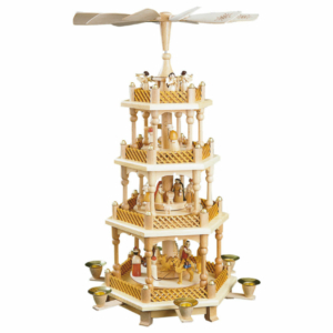 Weihnachtspyramide Christi Geburt, 3 Etagen, Farbe Natur