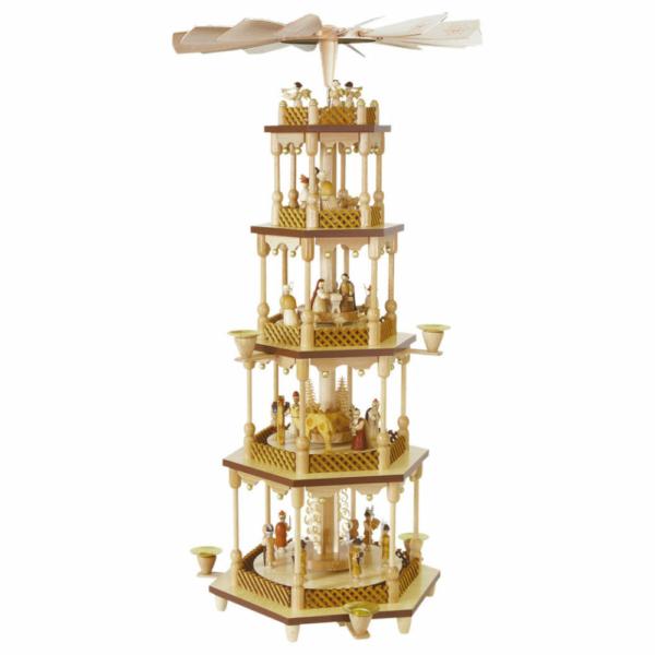 Weihnachtspyramide Christi Geburt 4-stöckig_001-012-00802