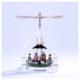 Weihnachtspyramide Christi Geburt, weiß_001-012-01220