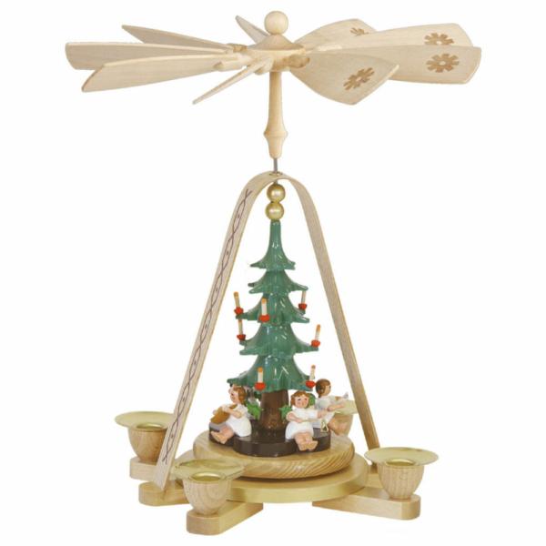 Weihnachtspyramide Engel mit Christbaum_001-012-00815
