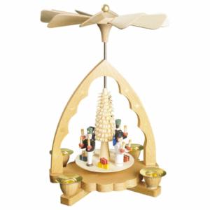 Weihnachtspyramide Engel und Bergmann