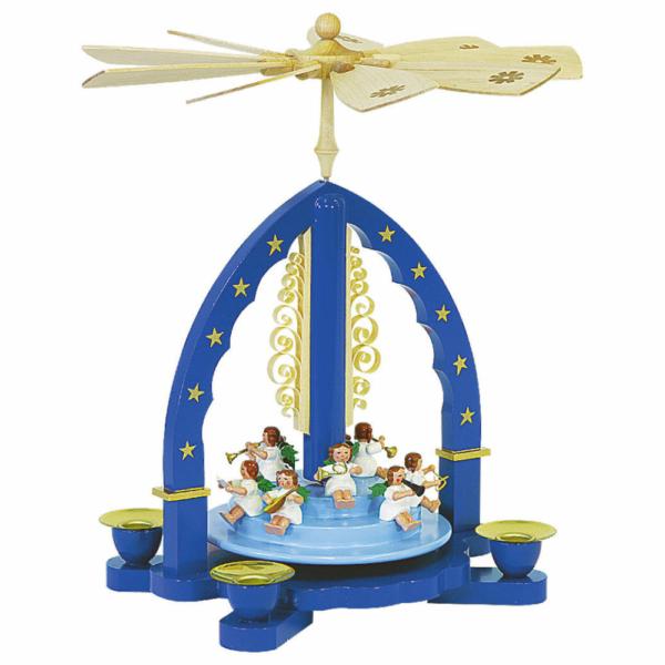 Weihnachtspyramide Engelkonzert, blau_001-012-00809