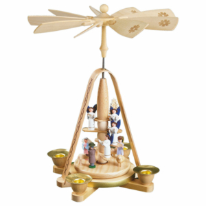 Weihnachtspyramide Engeltreppe mit Christi Geburt