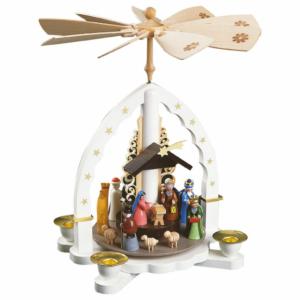 Weihnachtspyramide Heilige Drei Könige, weiß_001-012-00808