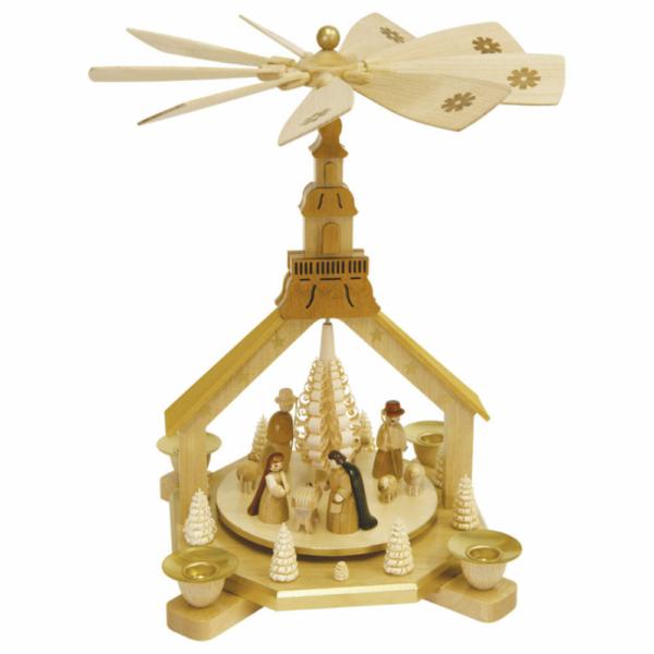 Weihnachtspyramide Kirche, Christi Geburt