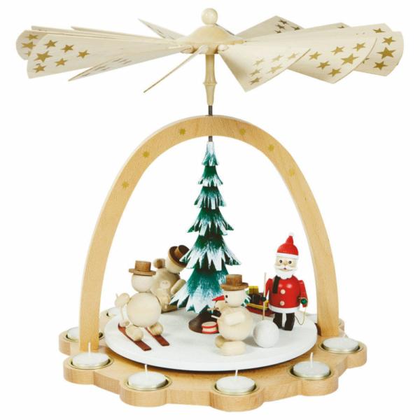 Weihnachtspyramide Schneemänner