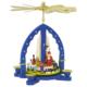 Weihnachtspyramide Weihnachtsbescherung, blau_001-012-00810